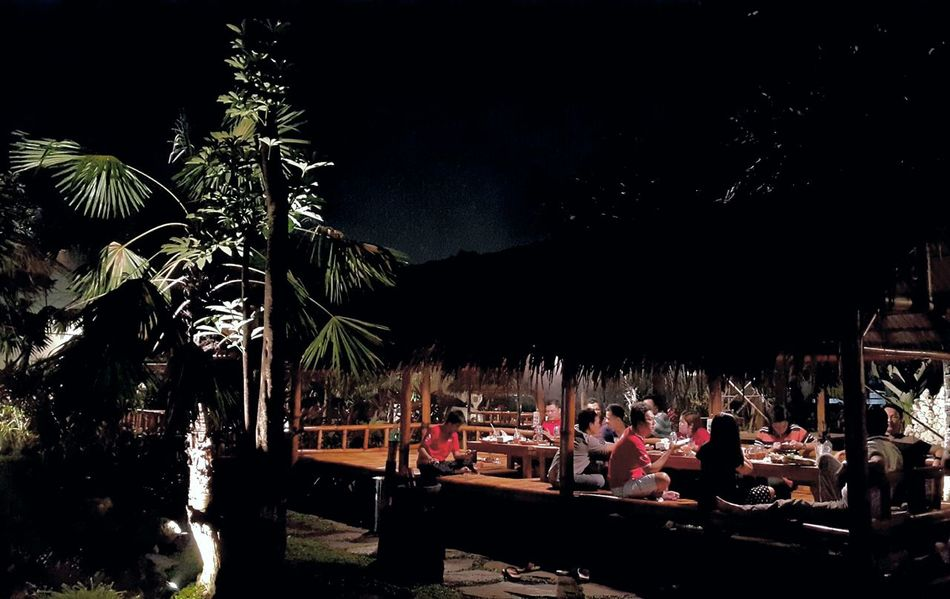 An eating place like home so natural place Night Outdoors People And Places Beauty In Nature Travel Destinations Tree Grass Built Structure Plants Restaurant Restaurant Scene Restaurant Art Restaurants Restaurant View
