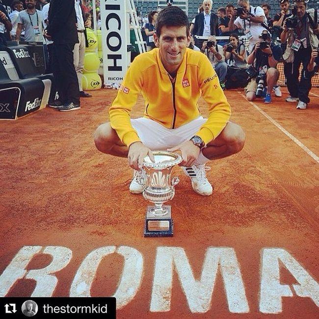 Nole again our champion🎾🏆🇮🇹❤️ What A Man Ibi15 Tennis Novak Djokovic
