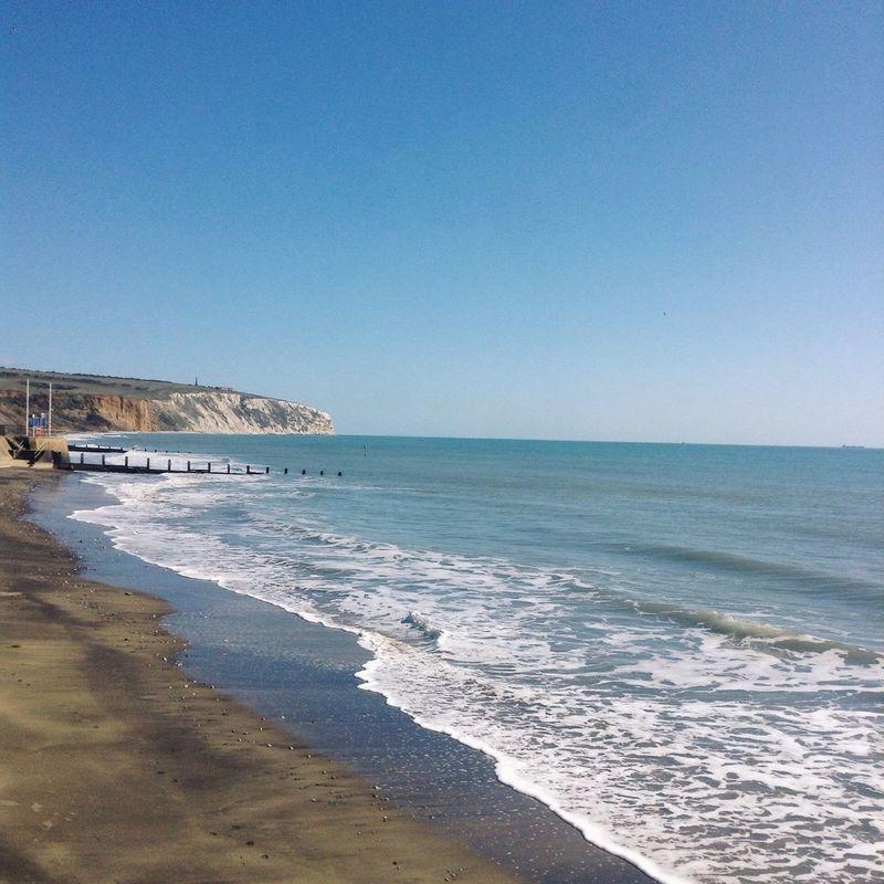 Beautiful day Isle Of Wight  Coastline Cliff Sea Beach Seaside Sunshine