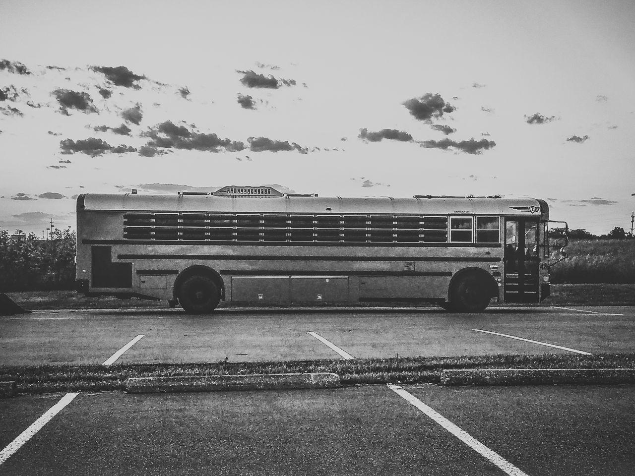 Bus Clouds Cloudy Sky Hub Mode Of Transport No Escape Parked Parking Lot Prison Bus Prison Hub Transportation What The Bus?