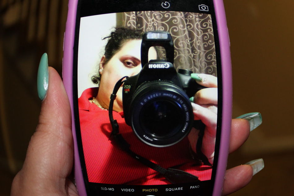 #canon Photography #Iphoneography Front View Holding Looking At Camera Photographing