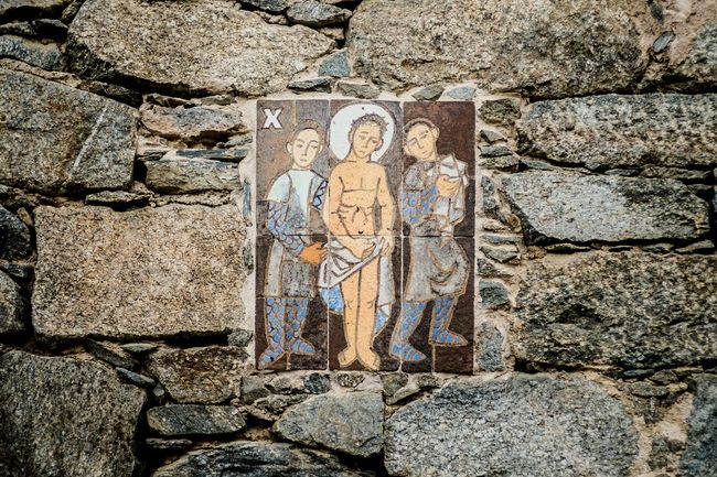 Station 10: Jesus is stripped of his garments Stonewall Iconoghraphy Ceramic Color Stations Of The Cross Open Edit
