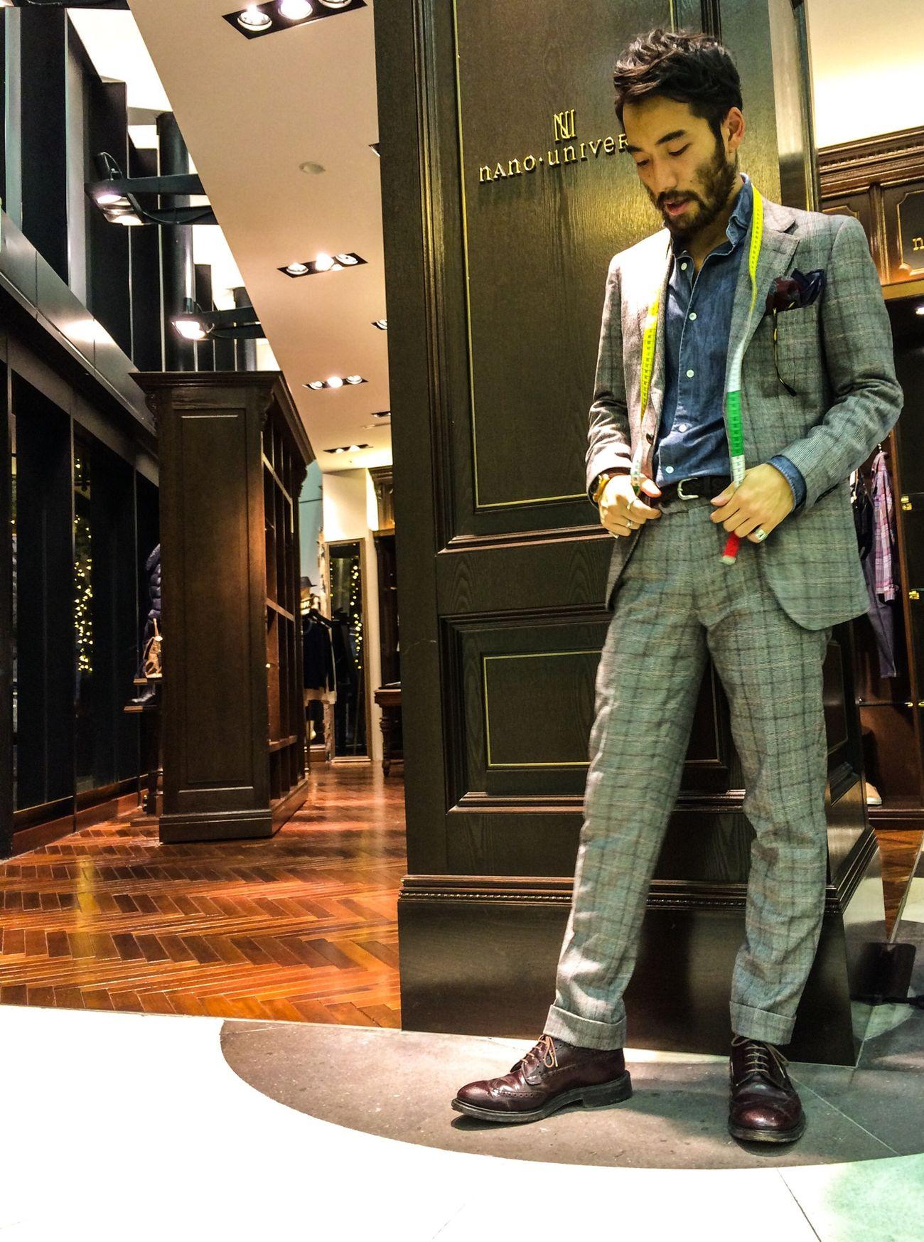 nano universe 神戸大丸店ジーニアスギャラリーではスーツを豊富に取り揃えており、オーダーも承っております。 Fashion Nano Universe Wear
