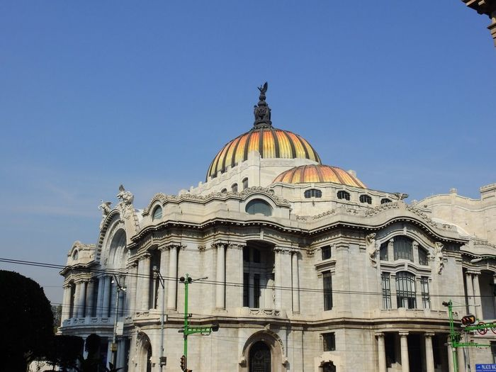Palacio De Bellas Artes  Architecture Dome Building Exterior Built Structure Low Angle View Clear Sky Day No People Travel Destinations Outdoors Sky