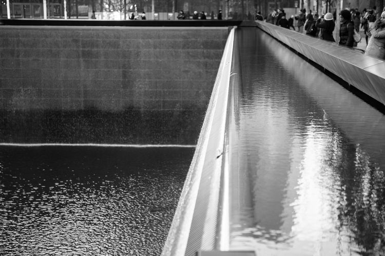 911 911 Memorial 911 Terror Day Nature Nature New York Outdoors Real People Reflection Terrorist Attack USA Water Waterfront