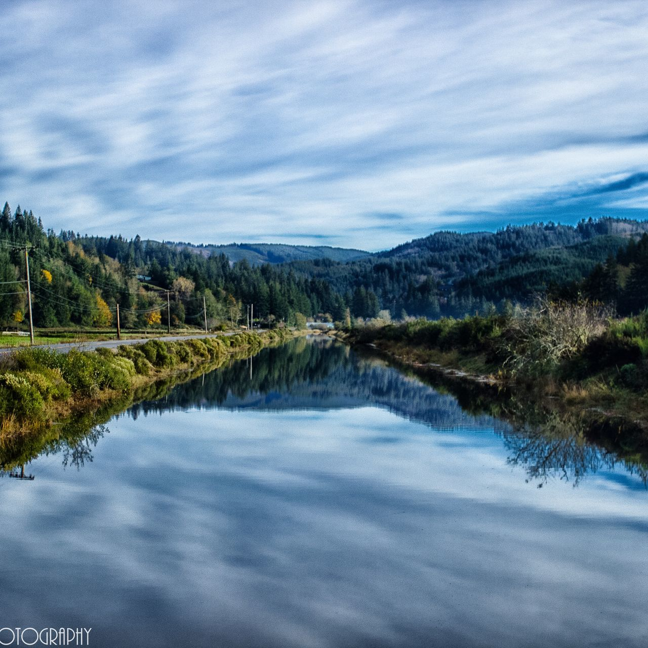 Reflection Nature Tree Water Growth Tranquility Beauty In Nature Sky Tranquil Scene Outdoors Travel Destinations Landscape Day Oregon Jewell Photography Coos Bay