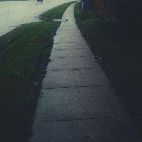 Taking Photos its a long dark cold walk ahead Dark