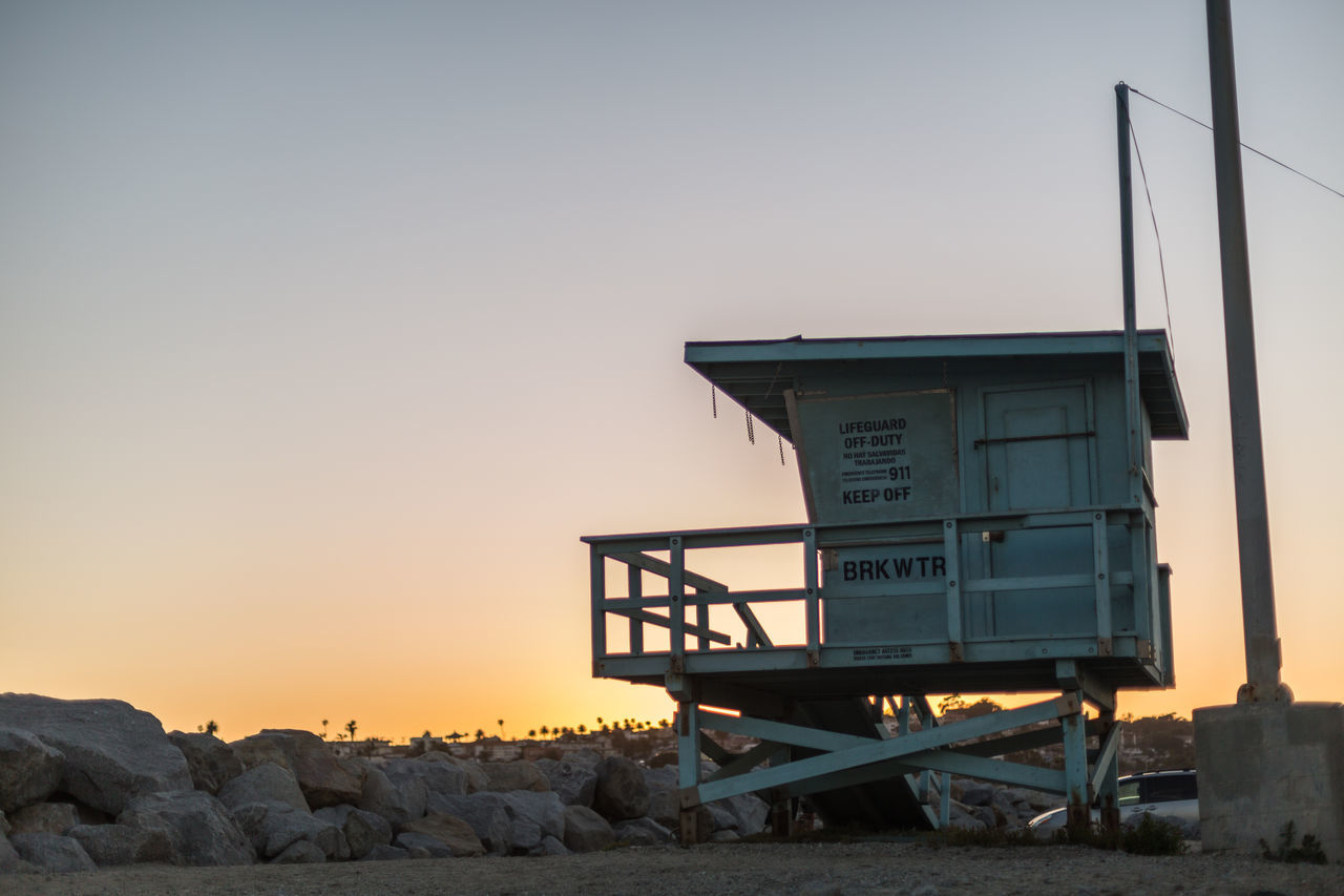 Lifeguard hut at twilight Architecture Beach Built Structure Clear Sky Clear Sky Cloudless Sky Glow In The Sky Lifeguard Hut Lifeguard Off Duty Nature No Lifeguard On Duty No People Ocean Orange Glow In The Sky Orange Hue Outdoors Sky Sunset Sunset Glow Susnet Twilight