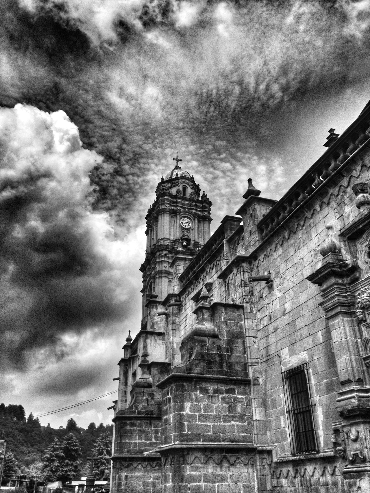 Architecture Architecture_bw Blackandwhite Landscape Clouds And Sky Blackandwhite Photography Tlalpujahua Black & White Black And White Church