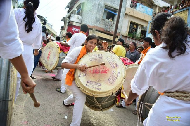 Festivals Dhol Person Street City Outdoors Day City Life Festivals Of India Dholtasha Visarjan_diaries