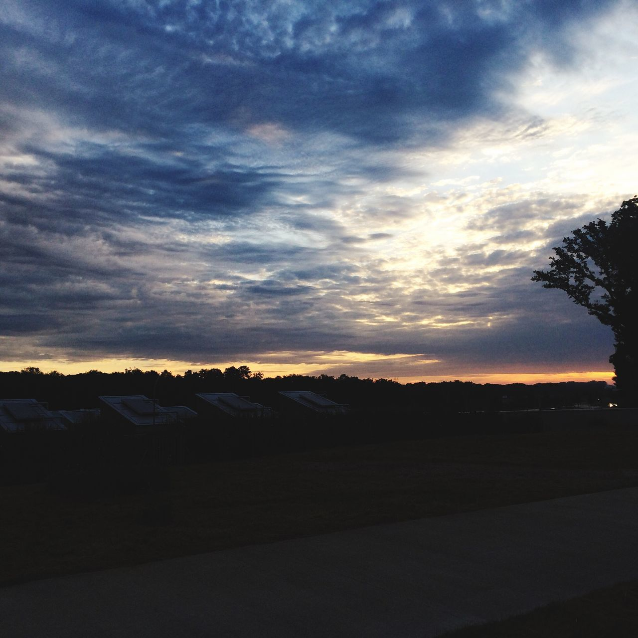 sunset, sky, cloud - sky, silhouette, scenics, nature, beauty in nature, tranquil scene, tranquility, landscape, no people, tree, outdoors, day