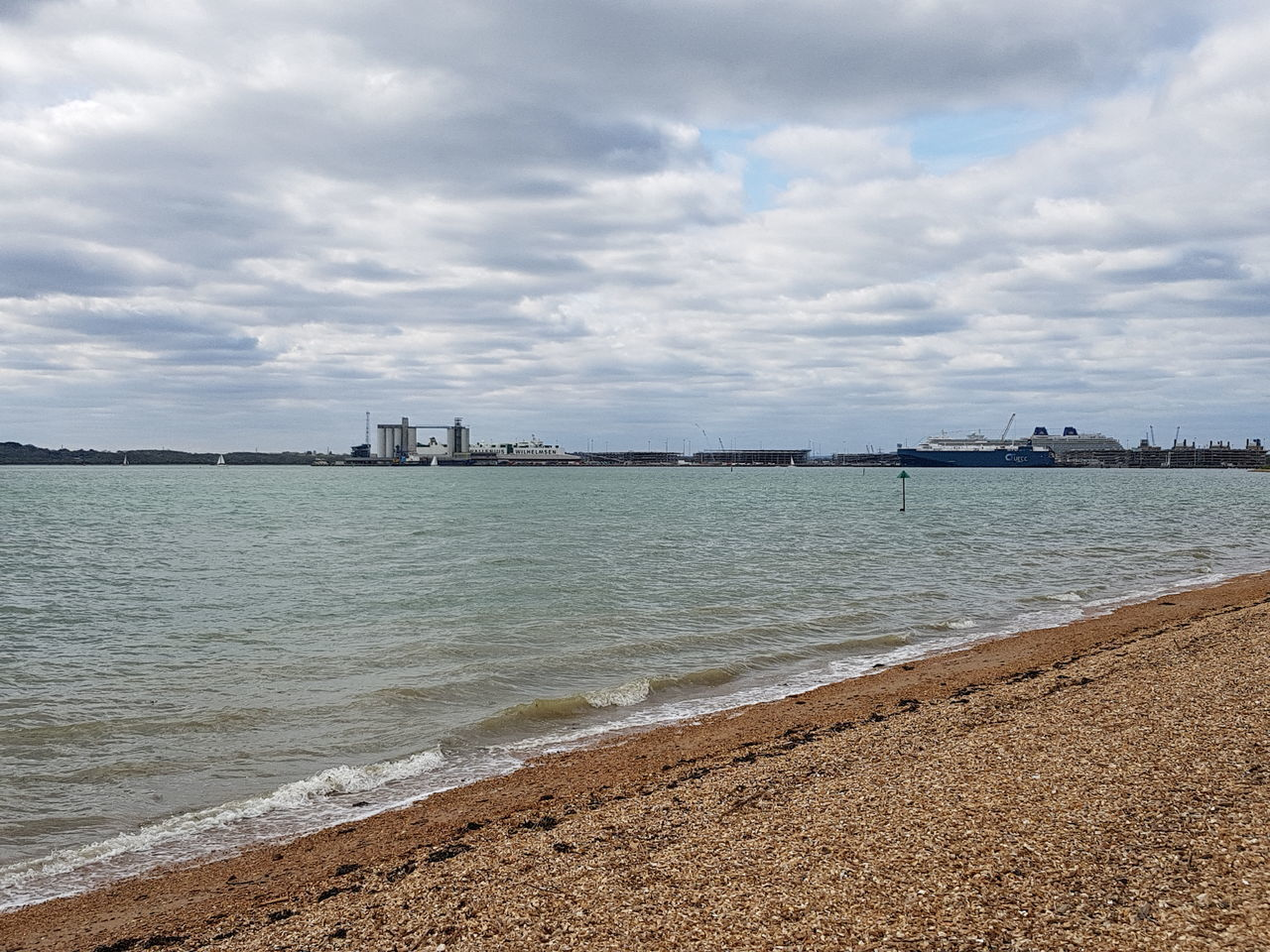 Southampton Water. The weather could be better. Cloud - Sky Beach Sky Water Outdoors Day Sea No People Scenics Architecture Tranquility Building Exterior Nature Harbor Harbour Beauty In Nature City Cityscape Southampton Docks Southampton Southampton Beach