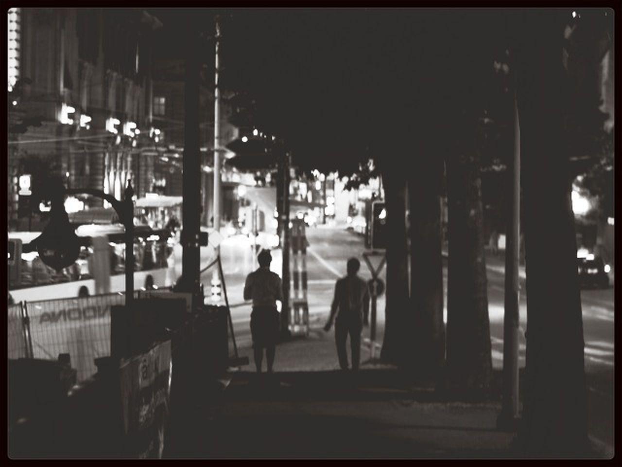 night, illuminated, street, city, real people, building exterior, men, outdoors, women, people