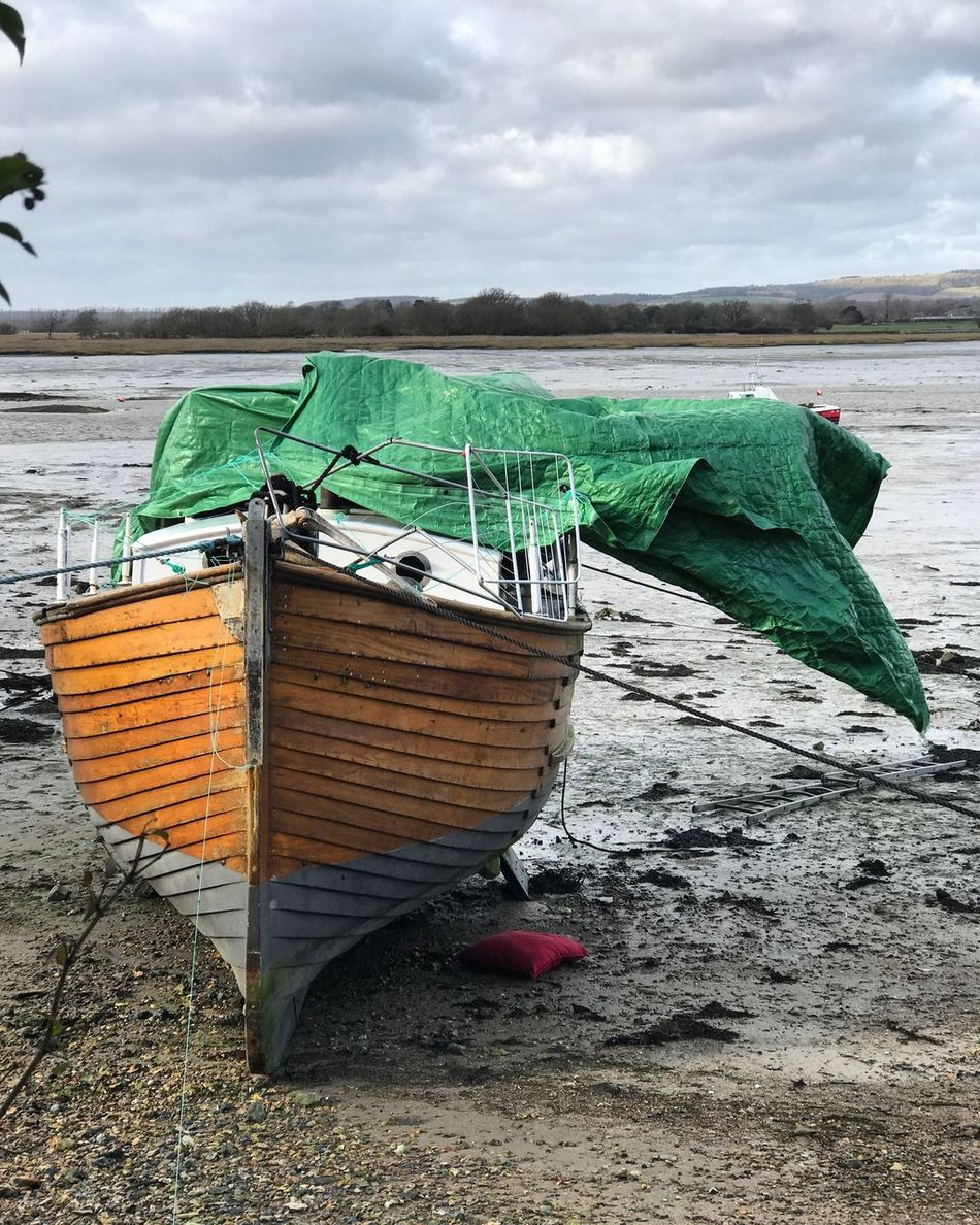Storm Doris hitting Dell Quay in West Sussex. Beach Sky Sea Water Outdoors Nature Nautical Vessel Tranquil Scene Shore Scenics Day Sand No People Multi Colored Beauty In Nature Cloud - Sky Horizon Over Water Storm Doris Dell Quay West Sussex Stormy Weather Storm Doris Gales Yacht