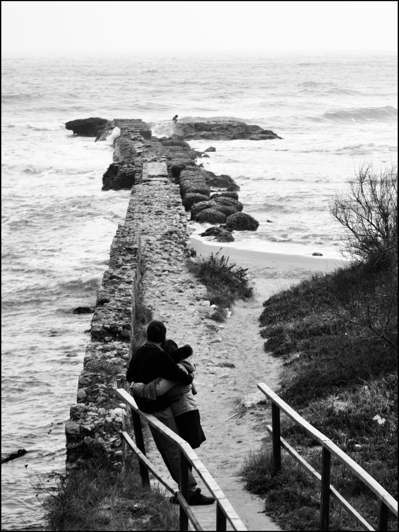 .un romantico mare d'inverno. Saporetti, Sabaudia | Italy Sky Sea Eye4photography  EyeEm Best Edits Monochrome Photography Real People Nature Day Beauty In Nature Tranquil Scene Beach Blackandwhite Bws_worldwide Bw_collection Great Atmosphere EyeEm Bnw Street Photography Streetphotography Street Life Streetphoto Beauty In Nature EyeEm Bestsellers Water