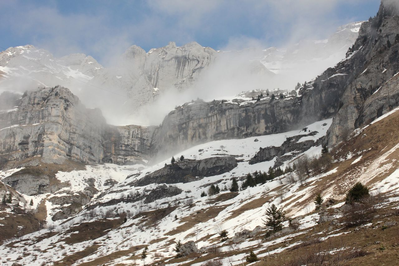 Beauty In Nature Cloud Cloud - Sky Cold Temperature Covering Day France Majestic Montmin Mountain Mountain Range Nature Non-urban Scene Outdoors Remote Scenics Season  Sky Snow Snowcapped Mountain Tranquil Scene Tranquility Valley Weather Winter