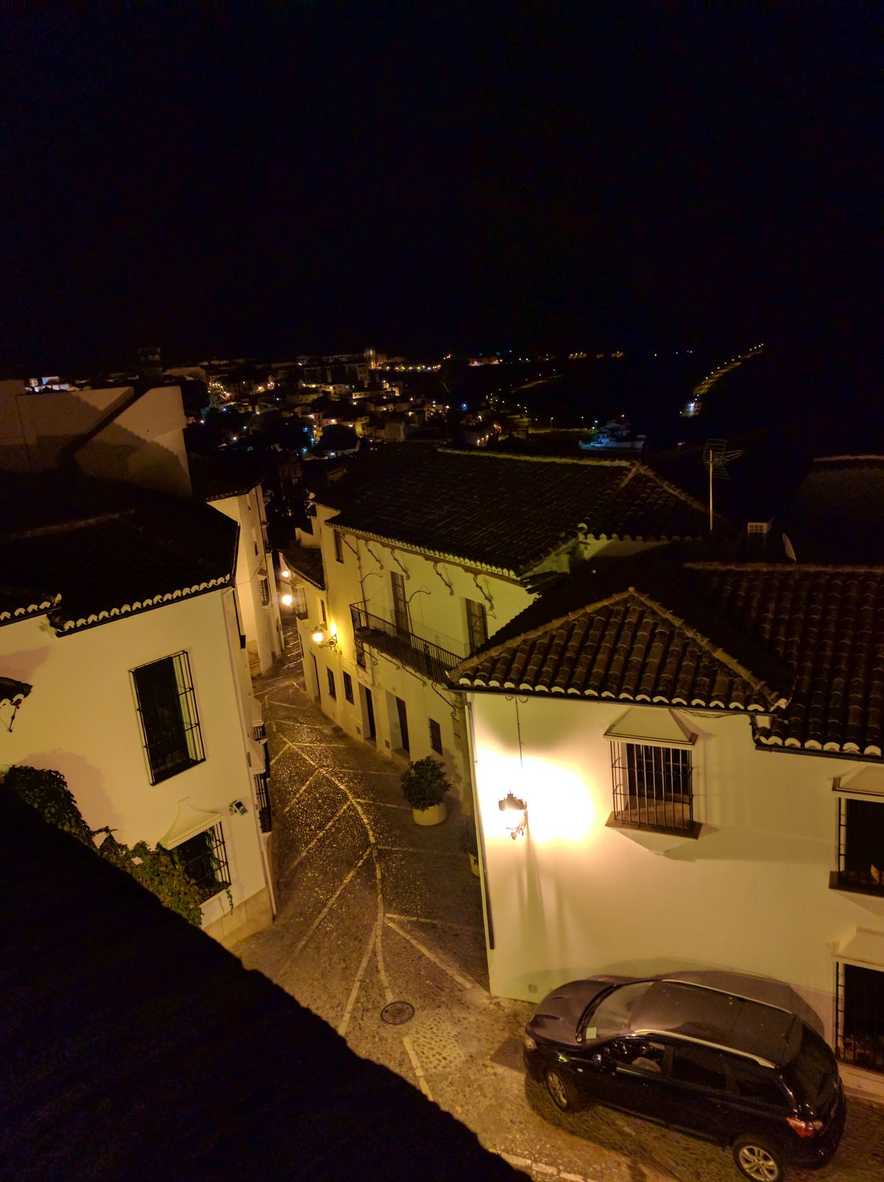 Illuminated Night Cityscape Outdoors Sky No People Ronda Spain