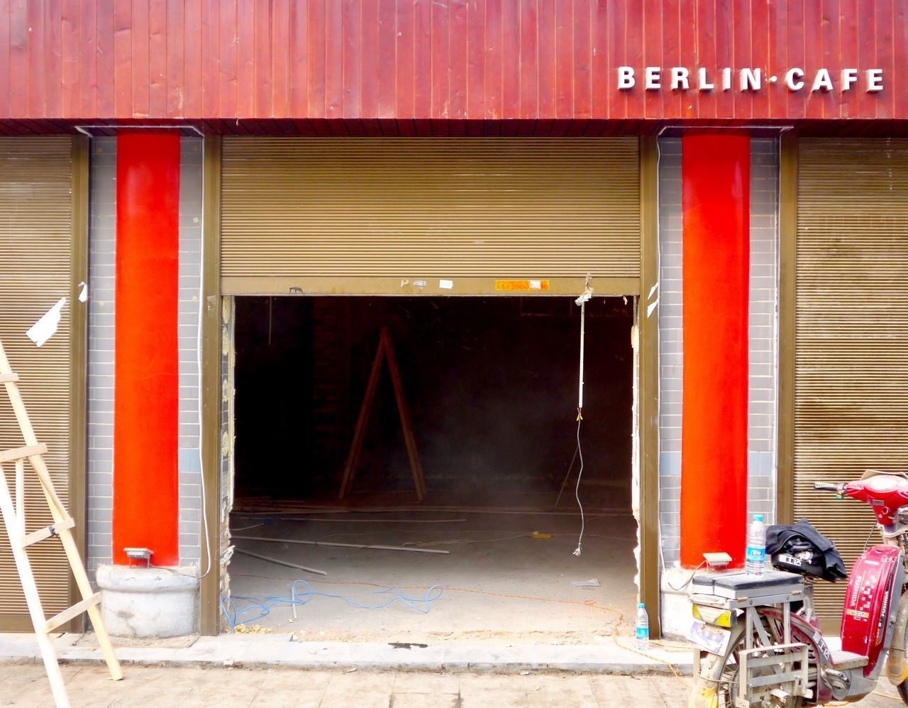 Built Structure Architecture Red Building Exterior Berlin In China China Cafe China Streets China Photos China Germany In China Day Industry Outdoors No People Berliner Ansichten Building Sites Building Site In China New Store
