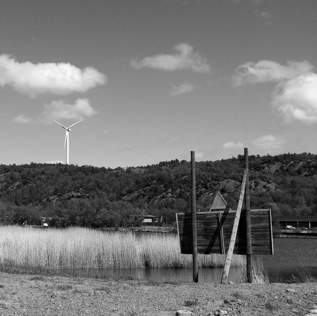 Somewhere along Göta älv as windmill tourist Blackandwhite Windmill Urban Exploring Göta älv  Landscapes