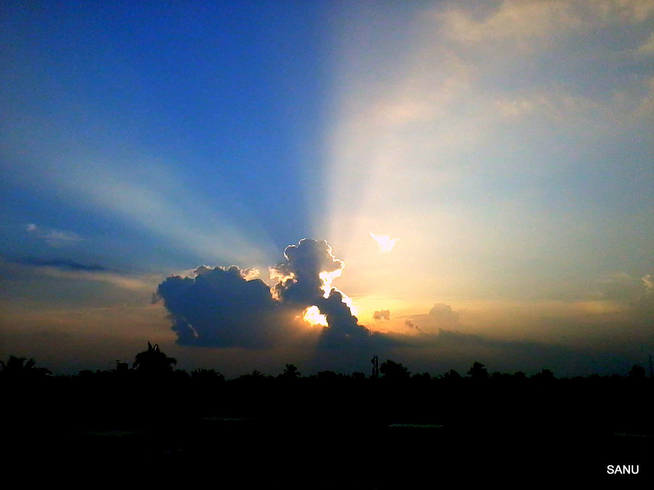 sunset, silhouette, sky, nature, outdoors, no people, beauty in nature, day
