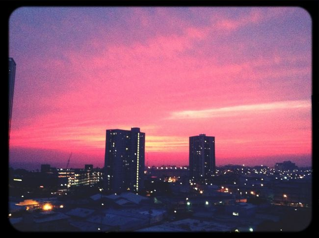Couple weeks ago, red sky