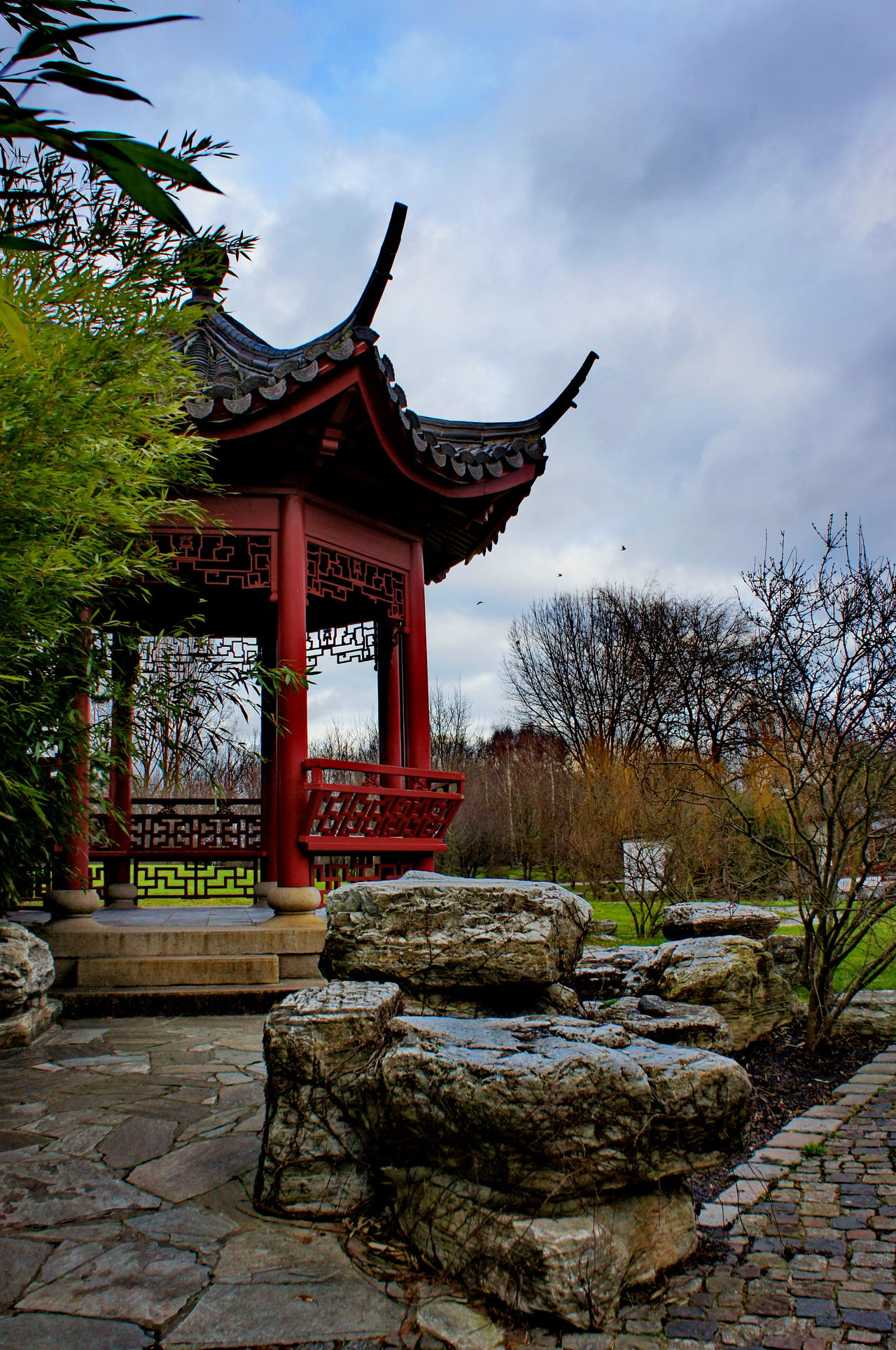 Chinese Garden Architecture Asian  Building Built Structure Cultures Day Garden Holidays No People Outdoors Pagode Park Sky Traveling Tree