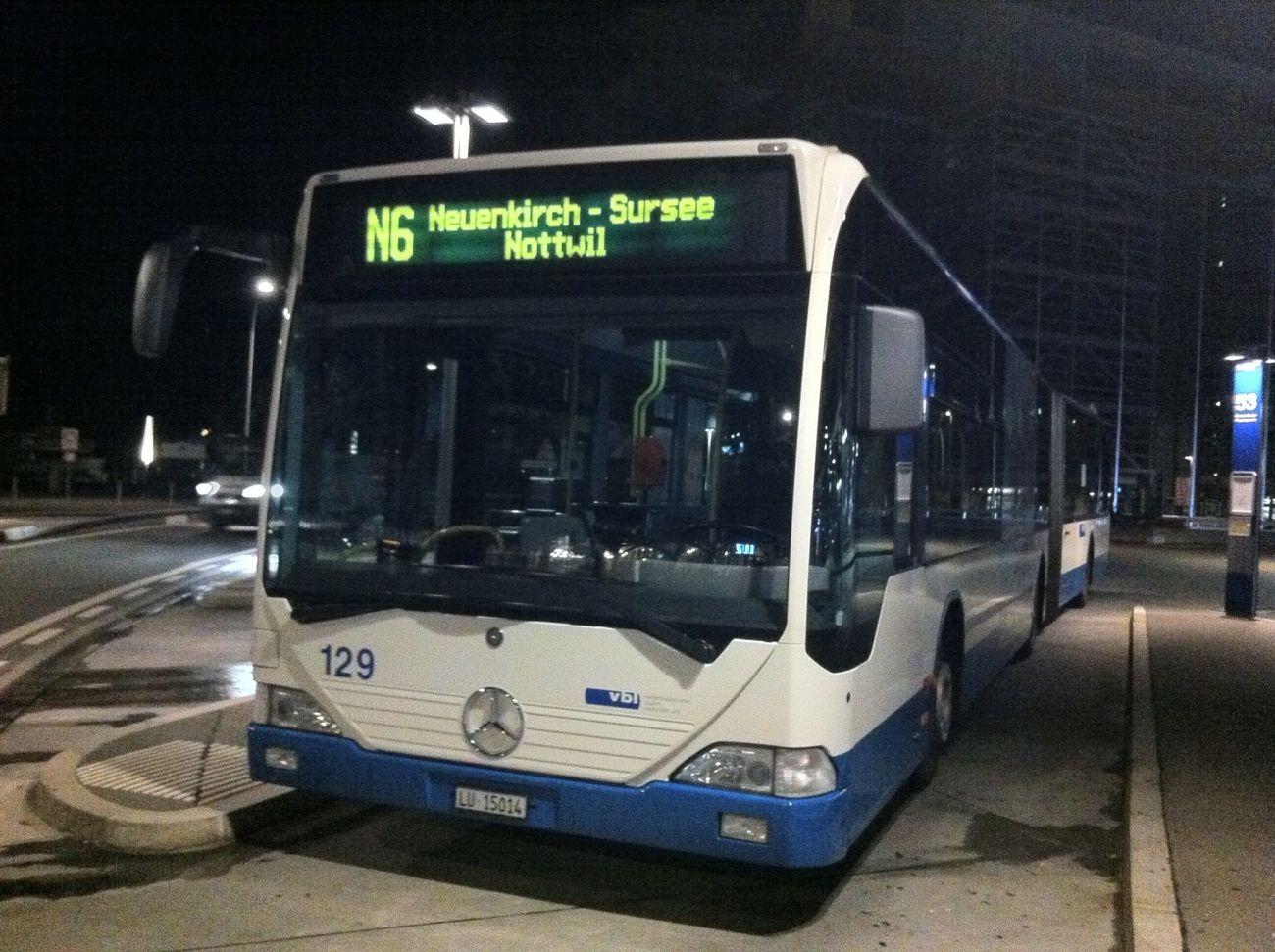 Nachtstern Mercedes Citaro Verkehrsbetriebe Luzern VBL