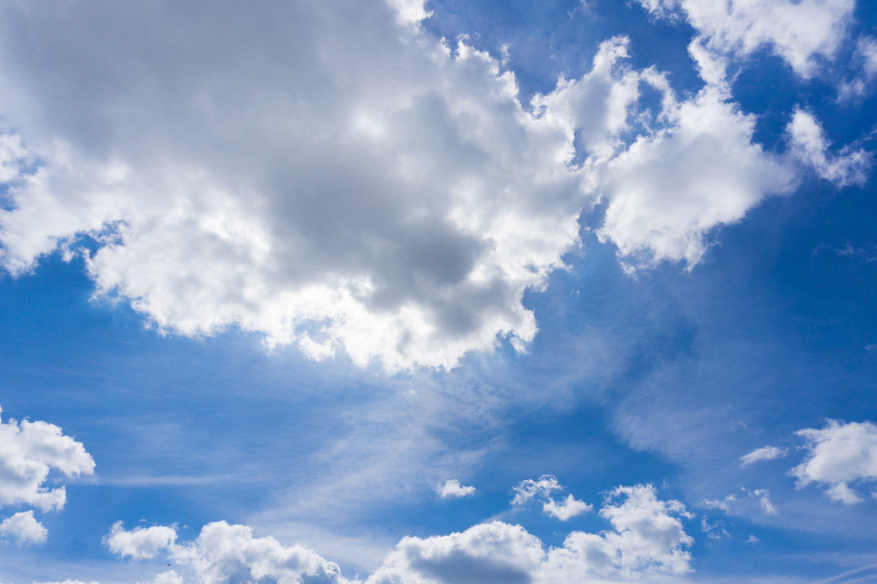 Cloudy Day Air Background Blue Cloud Formations Clouds Cloudscape Cloudy Environment Freshness Heaven Light Nature No People Scenics Sky Solar Energy Space Sunlight Sunshine Weather White Clouds Wind
