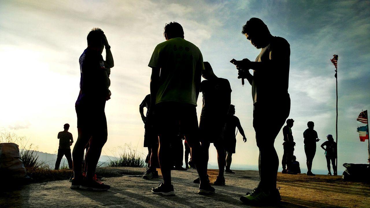 Hikingphotography Hikersunite Hiker Leg Evening View St. Veronica Hill Sabah Borneo Mobile Conversations