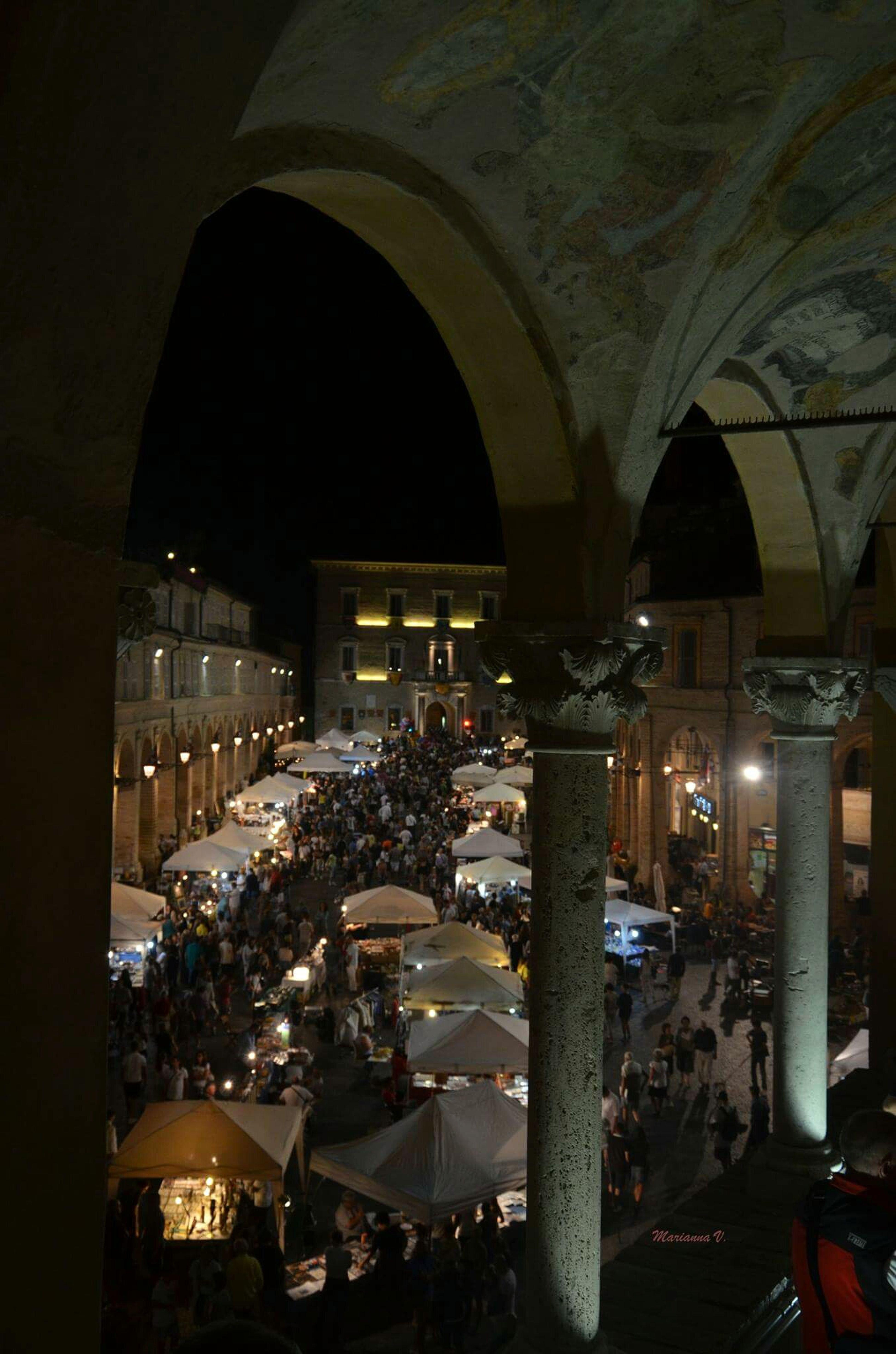 Fermo Italy Night Lights Reflex Mercato Mercatino Mercatinoestivo