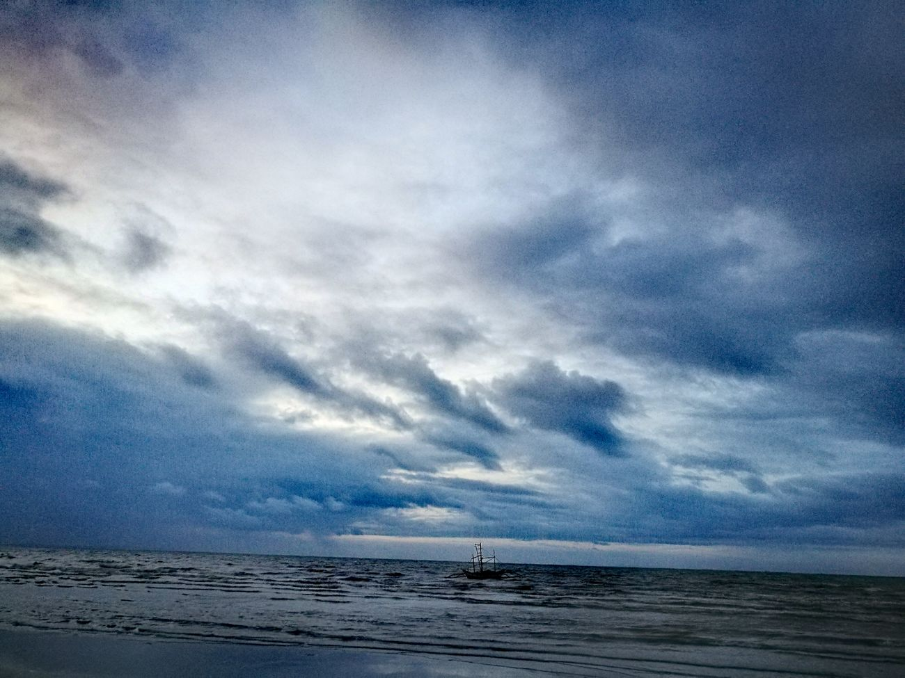 Sea Sky And Clouds Water Blue Beach Dawn Beachtime Horizon Over Water Boat