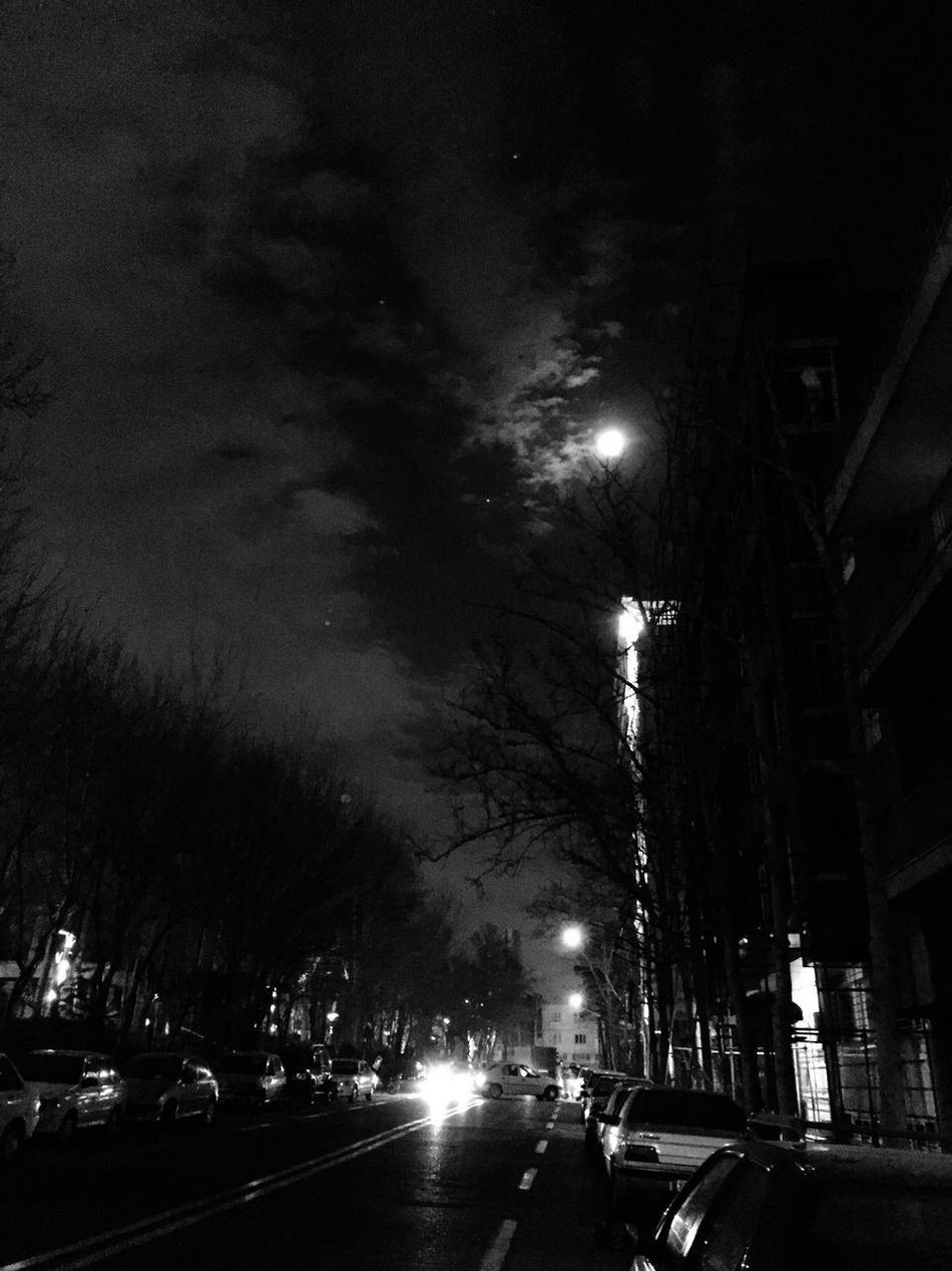Midnight, after cafe, back to home! Blackandwhite Streetphotography Night Nightphotography IPhoneography Cafe Time