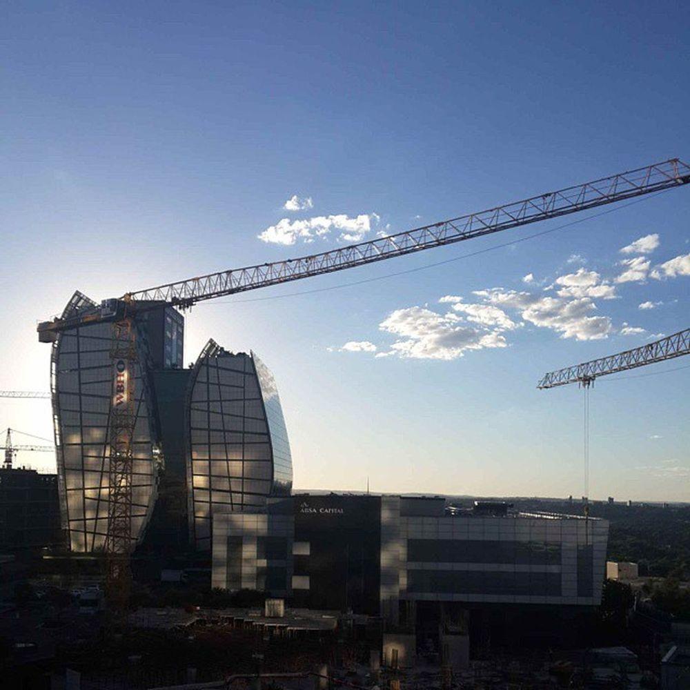 Sandton CBD - view from San Deck Sandton CBD Gauteng Southafrica architecture crane progress nofilter SanDeck