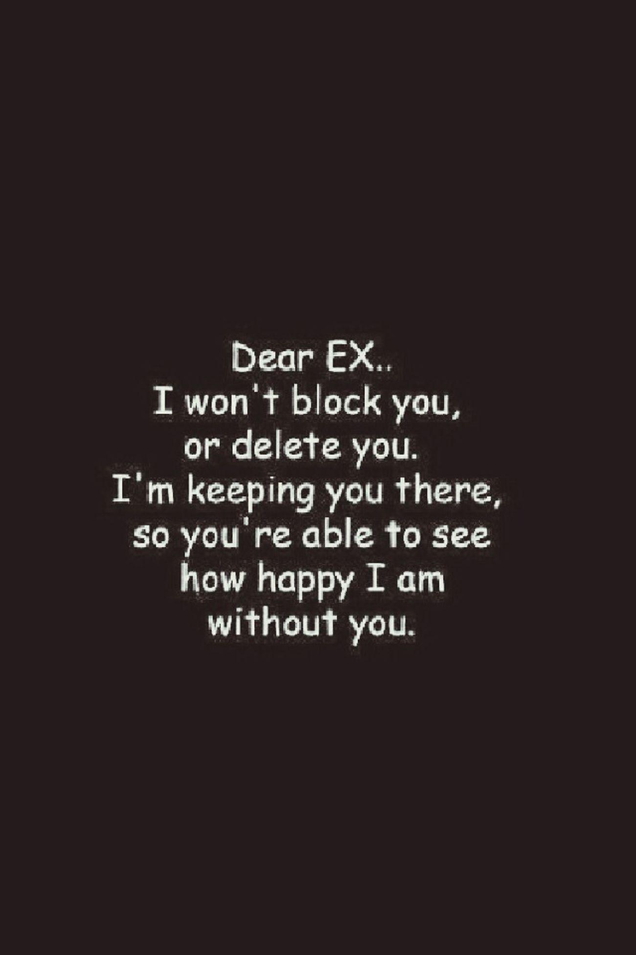 To My Ex Jus Cuzzzz Doin Me
