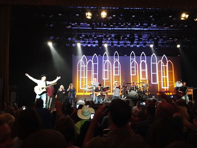 Garthbrooks Nashville Ryman Auditorium Arts Culture And Entertainment Illuminated Large Group Of People Night Performance Music Musician Leisure Activity Event Crowd Playing Lifestyles Stage - Performance Space Musical Instrument Performer  Enjoyment Person Entertainment Occupation Nightlife Lighting Equipment Country Music SiriusXM