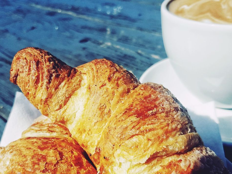 Good Morning! French Breakfast Morning Rituals Morning Latte Morning Coffee Croissants Croissant For Breakfast Food And Drink Close-up Food Freshness No People Day EyeEmNewHere
