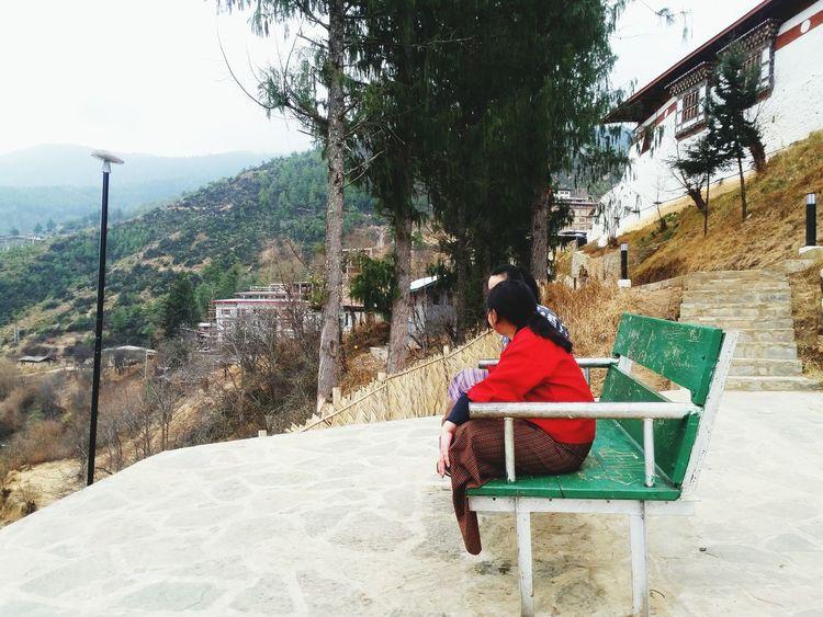 Bestfriends <3 Monastery PhonePhotography Having Fun :) at changangkha Monastry Bhutan Peaceful Place Taking Photo it was fun....