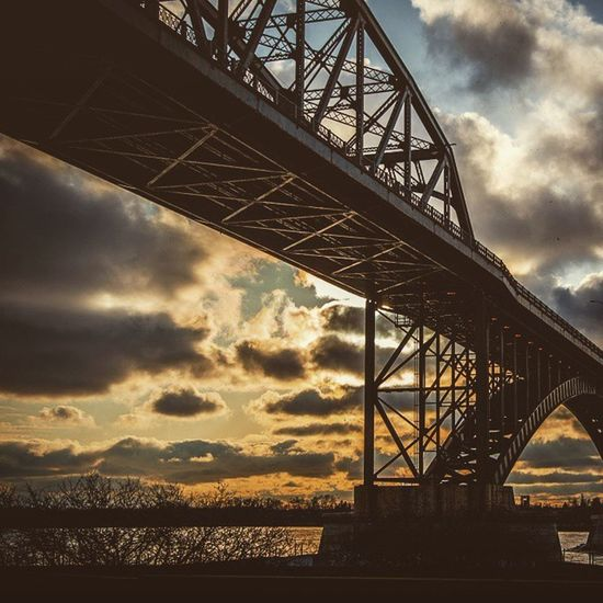 Peace Bridge, Buffalo, NY Buffalo Buffalony Bridge Ig_shotz_bridges Sunset Wny POTD Photooftheday