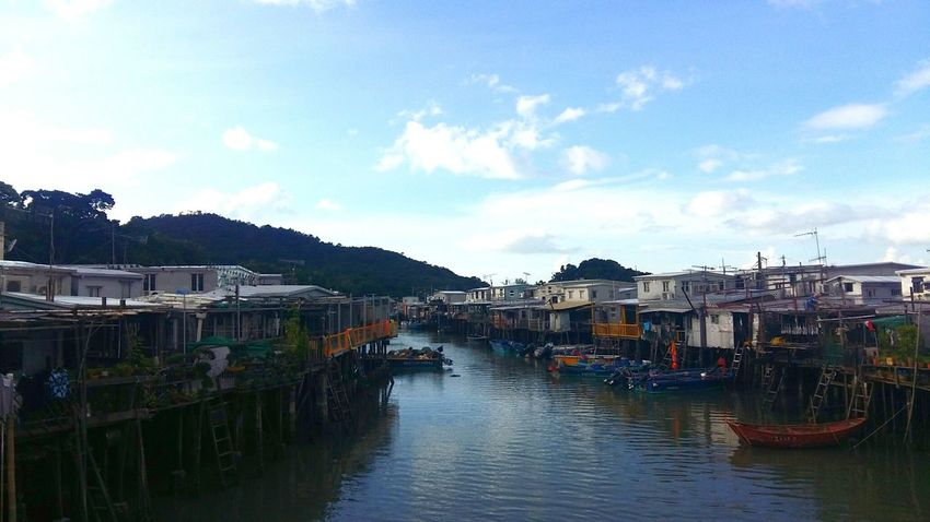 House Water Building Exterior Village Stilt House Nautical Vessel Architecture Travel Destinations Built Structure Tradition Beach Sea Multi Colored Harbor Beauty Reflection Sunny Day Nice Blue Sky Boats - Tai O 大澳 HongKong