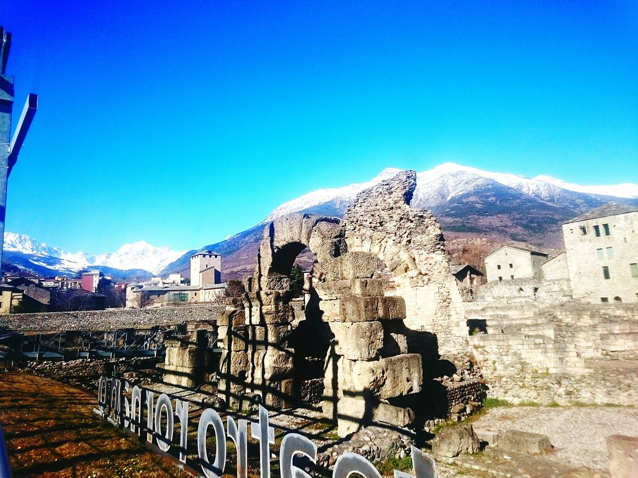 Sky Outdoors Architecture No People Day My2016 My Year My View Life Is A Journey Italy🇮🇹 Aosta Alps Alpine Roman Ruins Historical Buildings History Through The Lens