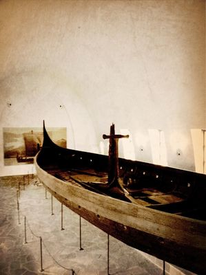 blackandwhite at Vikingskipshuset (The Viking Ship Museum) by MelB
