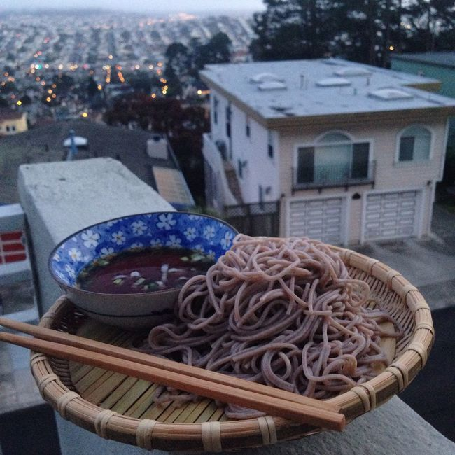 Soba Noodles Sunset Food San Francisco City Cityscapes
