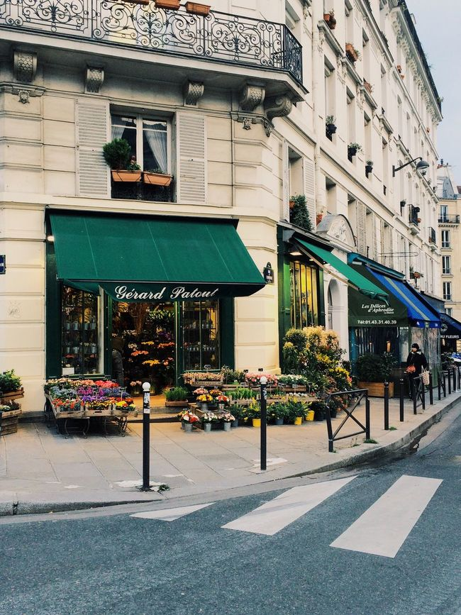 Outdoors Flowery Selling On The Street Paris, France  Corner Store Freshness Of Flower Sellers Flowerporn Architecture Latin Quarter