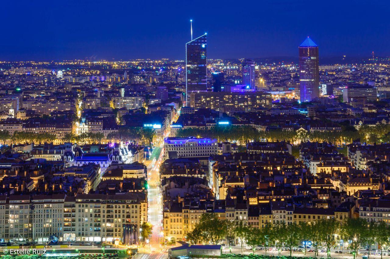 Lyon France Lyon Rhonealpes Blue Sky Bluehour France 🇫🇷 France Lights Cityscape City Town Building Long Exposure