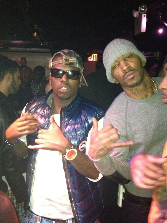 IN VIP WIT J.R. SMITH FROM THE NY KNICKS