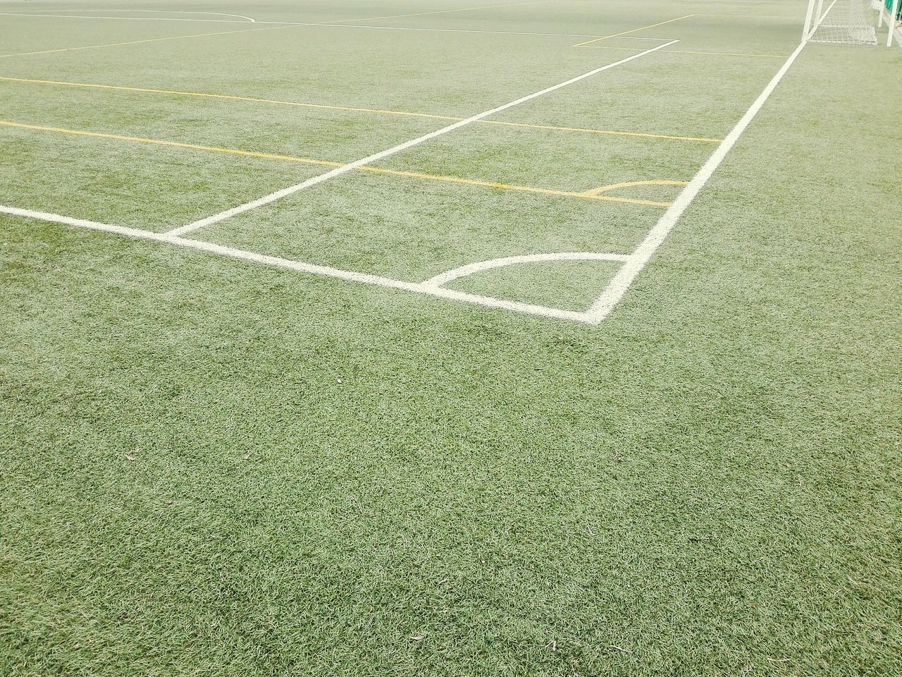 Day No People Outdoors My Phone Camera Soccer Field Eyeem Photography Asus Zenfone Photography Lines And Shapes Green Grass Area Grassfield