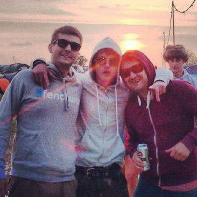 Very drunk but great sunset Glastonbury2013