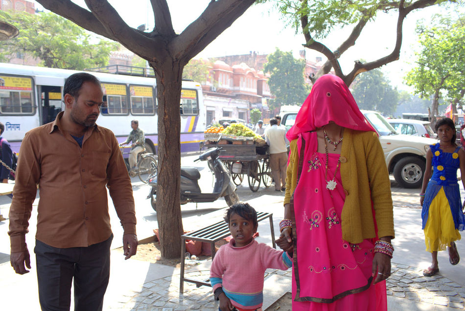 Adult Adults Only Day Family Mature Adult Millennial Pink People Pink Sari Strawberry Street Streetphotography Travel Photography Traveling Veil Veiled Woman