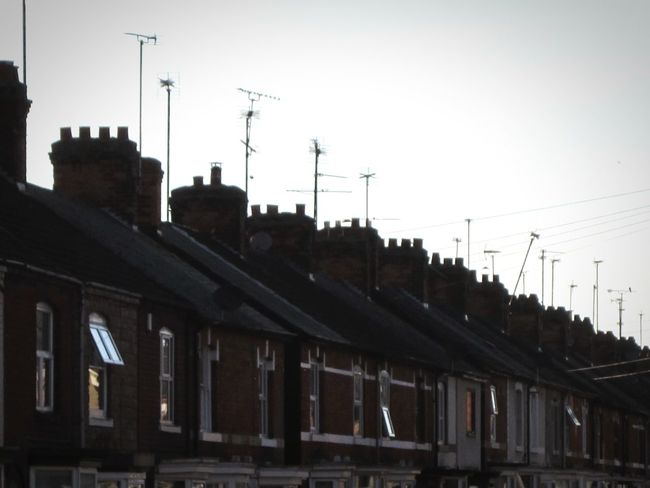 ◽ the last of the light◽ Lindsay's Little Manchester All In A Row Rows Of Things Urban_collection Rows Of Houses Terraces Chimney Tops Chimneys And Aerials Down The Road  The Week On EyemShowing Imperfection Simplicity Showcase May Spring 2016 Taking Photos The Architect - 2016 EyeEm Awards