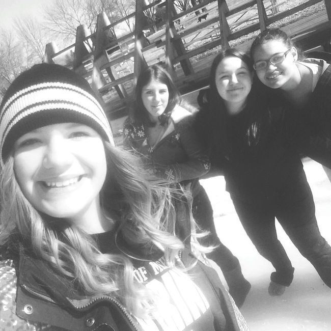 Friends ❤ Black & White Winter